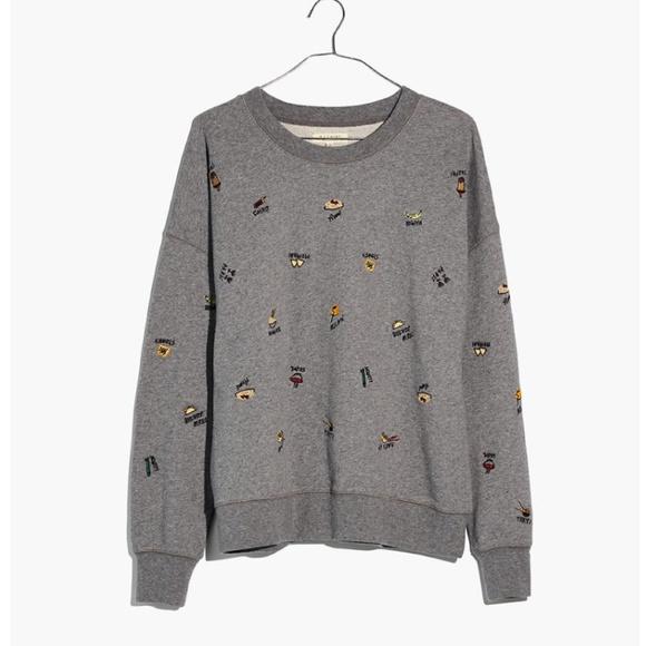 Madewell Food Culture Embroidered Sweatshirt